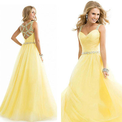 Fashion New Style  Womens Long Chiffon Evening  One-piece Dress Formal Party Ball Gown  Dresses