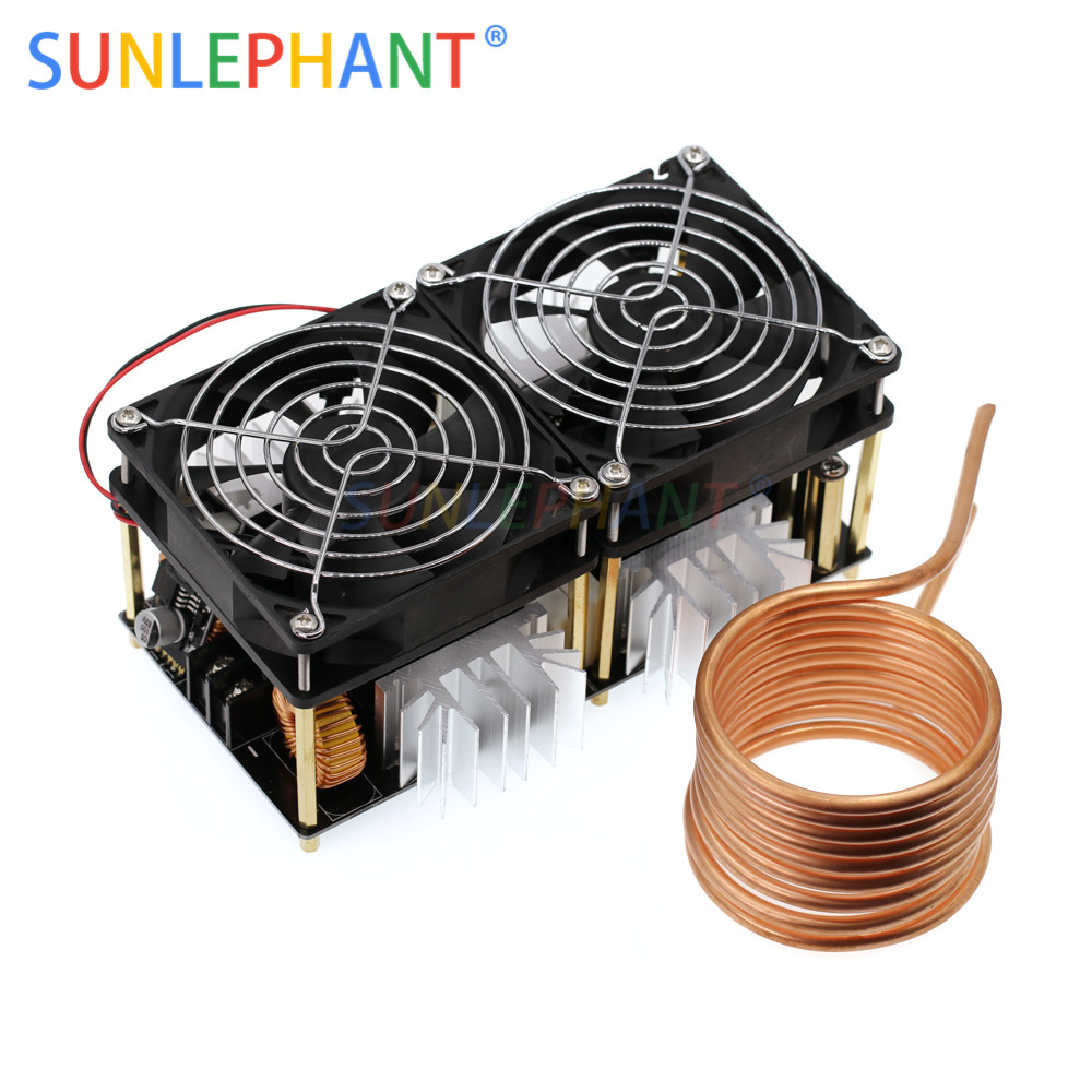 2000W ZVS Induction Heating Board induction heater Module Flyback Driver Heater Good Heat Dissipation 180*90*80mm + Coil