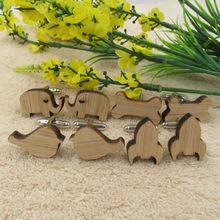 Stylish Wooden Cufflinks