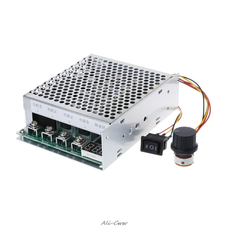 DC 10-55V 100A Motor Speed Controller Reversible PWM Control Forward/Reverse With Forward Reverse Bidirectional ToggleDC 10-55V 100A Motor Speed Controller Reversible PWM Control Forward/Reverse With Forward Reverse Bidirectional Toggle