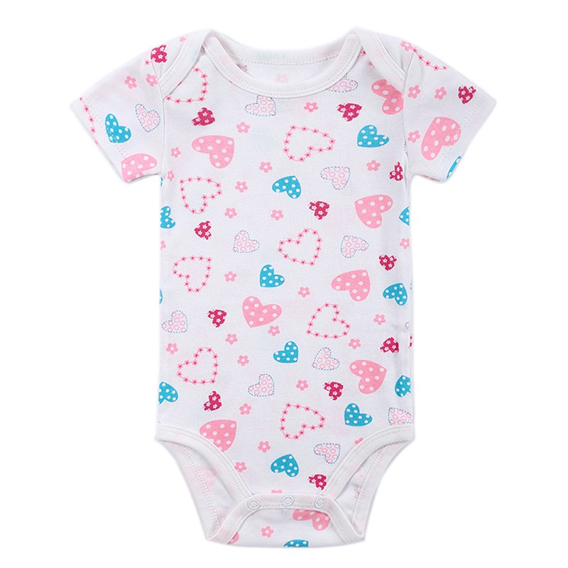 2016 Baby Boy Girl Clothes Body Cute Floral Short Sleeve Baby Bodysuits Overalls Ropa de Spring Next Newborn Summer Costume (101)
