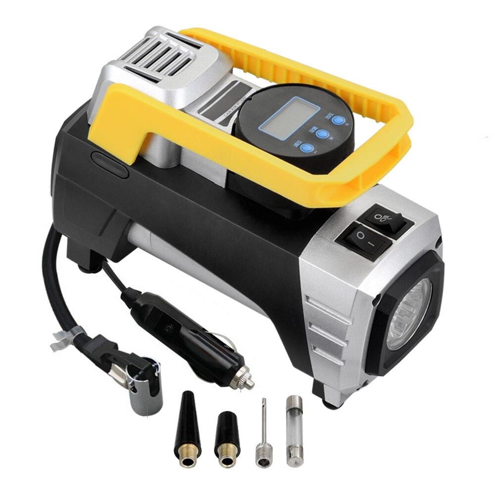 Воздушный компрессор насос портативный воздушный компрессор 12 В в 150 PSI цифровой шиномонтаж с автоматическим отключением манометра и яркой ...