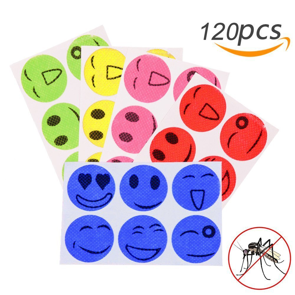 120pcs Mosquito Repellent Patches Stickers 100% Natural Non Toxic Pure Essential Oil   Keeps Insects  Far Away  Camping Travel(China)