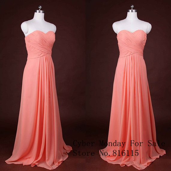 Online Get Cheap Coral Peach Bridesmaid Dresses -Aliexpress.com ...