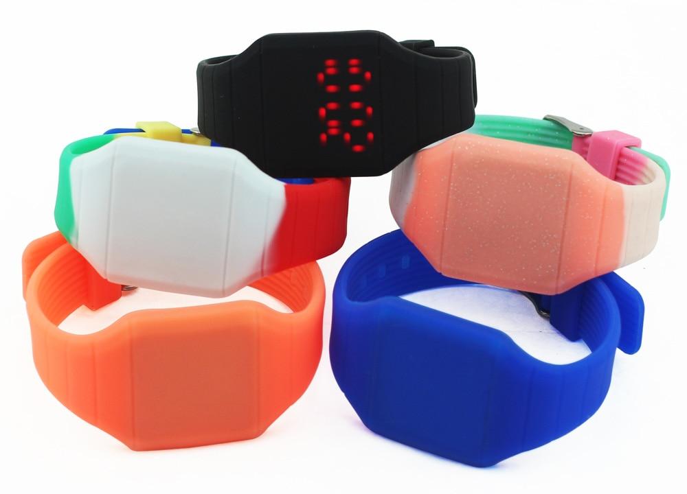 Relojes electrónicos led juvenil deportes jalea niños relojes - Relojes para hombres