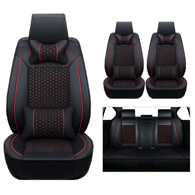 (leather+silk) car Seat Covers For volkswagen vw passat b5 b6 polo golf tiguan 5 6 7 jetta touran touareg cars accessories-styli