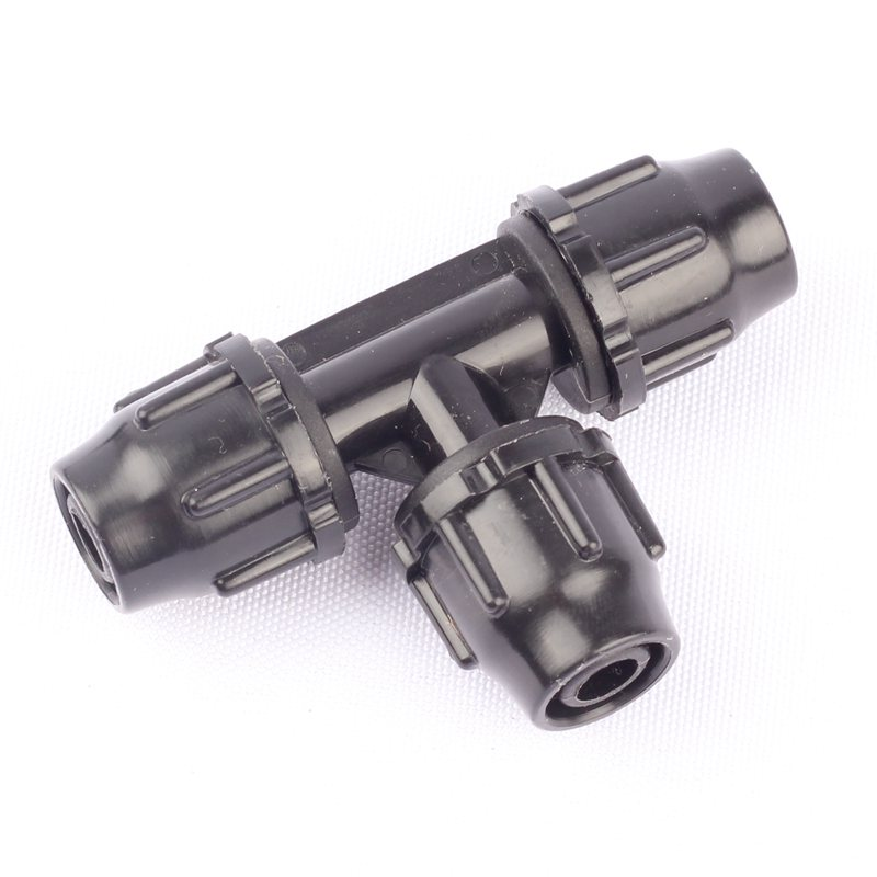 50pcs 8/11mm Garden Hose Thread Lock Equal Tee Connector Micro Drip Irrigation System Parts Fittings Pipe Splitters