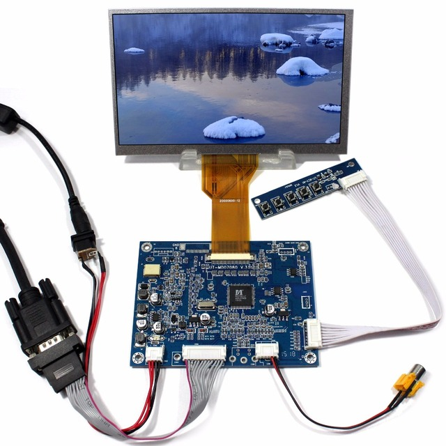 """7 """"Tft Lcd Display AT070TN92 con Vga Av Osd Scheda di Controllo Lcd"""