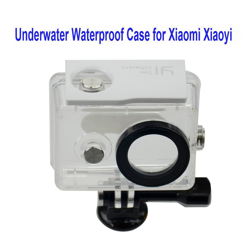 Free shipping Underwater Waterproof Case for Xiaomi Xiaoyi Diving 40M Waterproof extreme Helmet Cam Mini Camcorder