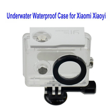 Бесплатная доставка!! подводные Водонепроницаемый Футляр для Xiaomi Xiaoyi Дайвинг 40 М Водонепроницаемый крайняя Шлем Cam Мини Видеокамера DVR