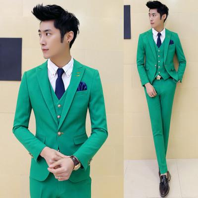 Black suit men blazers stage costumes for singers men 3 pieces mens formal suits groom tuxedo business suit men suit fashion 10