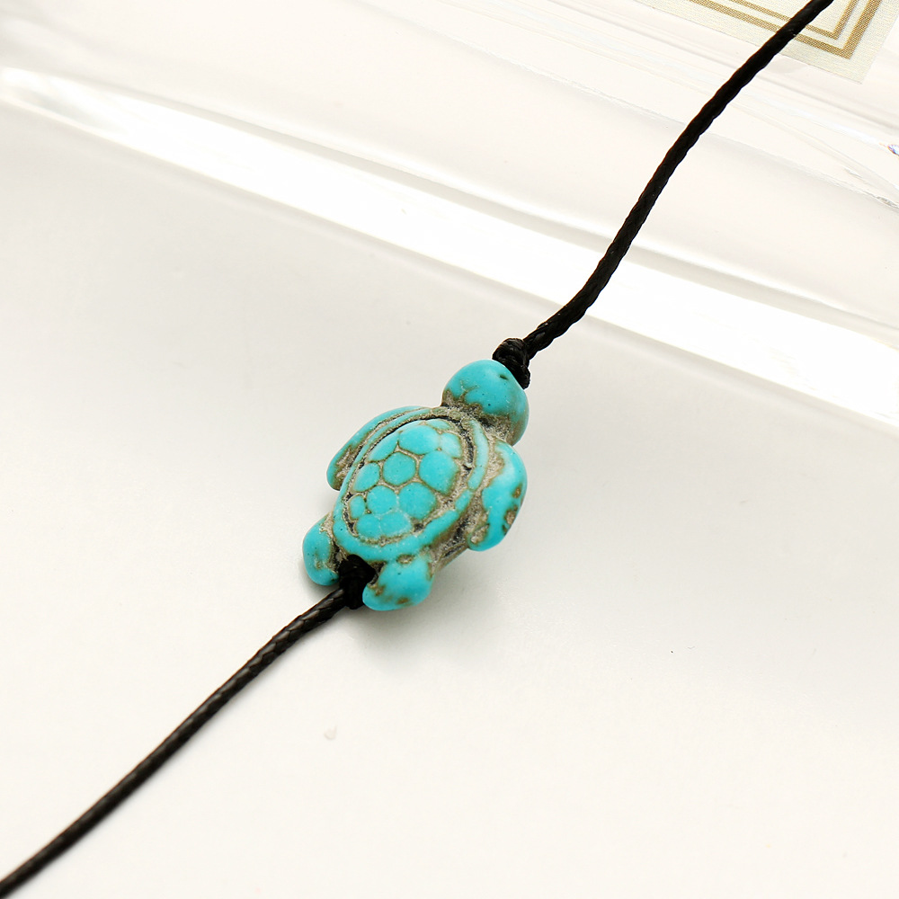 hot product hand new lucky fashion beaded sale turquoise stone bracelet blue braided bangle sea adjustable turtle