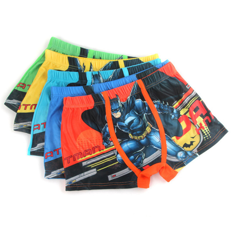 5 Pcs/Lot Cartoon Kids Boy Underwear For Baby Children's Cotton Underpants Briefs Boys Underware   Shorts   For 3-11 Y