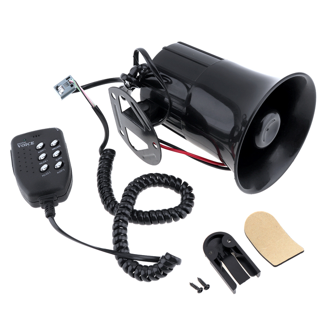 6 dźwięk 100W Tone głośny klakson motocykl Auto samochód ciężarówka głośnik Alarm ostrzegawczy syrena policja ogień pogotowia róg głośnik