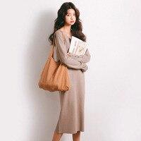 2017 Autumn New Sweater Korean Elasticity Was Thin Round Collar Slim Shirt Female M03