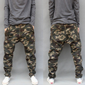 Big Crotch Large Pants Plus Size Skinny Trousers 2016 Men's Spring Autumn Camouflage Casual Harem Pants