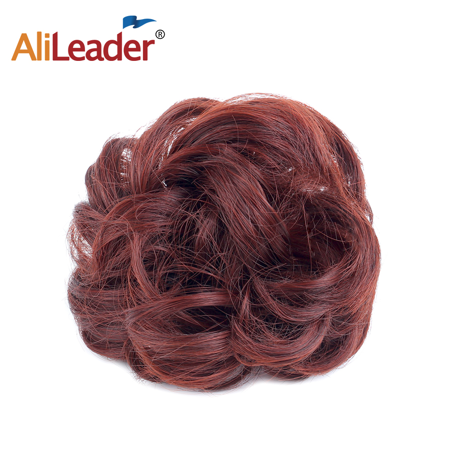 Alileader 1PCS/Lot Short Curly Tail Chignons Hair Heat Resistant Synthetic Hair Rope Natural Fake Hair Bun Curly Ponytails