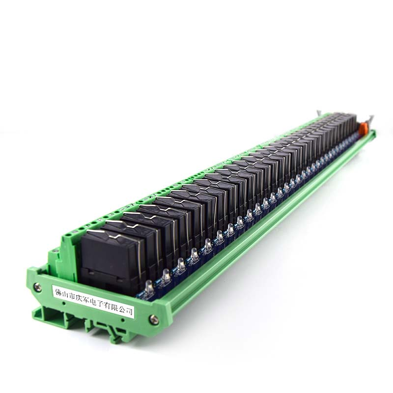 <font><b>32</b></font>-way power <font><b>relay</b></font> dual <font><b>module</b></font>, compatible with NPN/PNP24V PLC driver board image