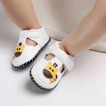 Newborn Girls Shoes Boys First Walkers Shoes Elephant Giraffe Printed Toddler Anti-Slip Soft Baby First Walkers PU Shoes 0-18M cheap WONBO Patch Spring Autumn Hook Loop Animal Prints Unisex Rubber Fits true to size take your normal size