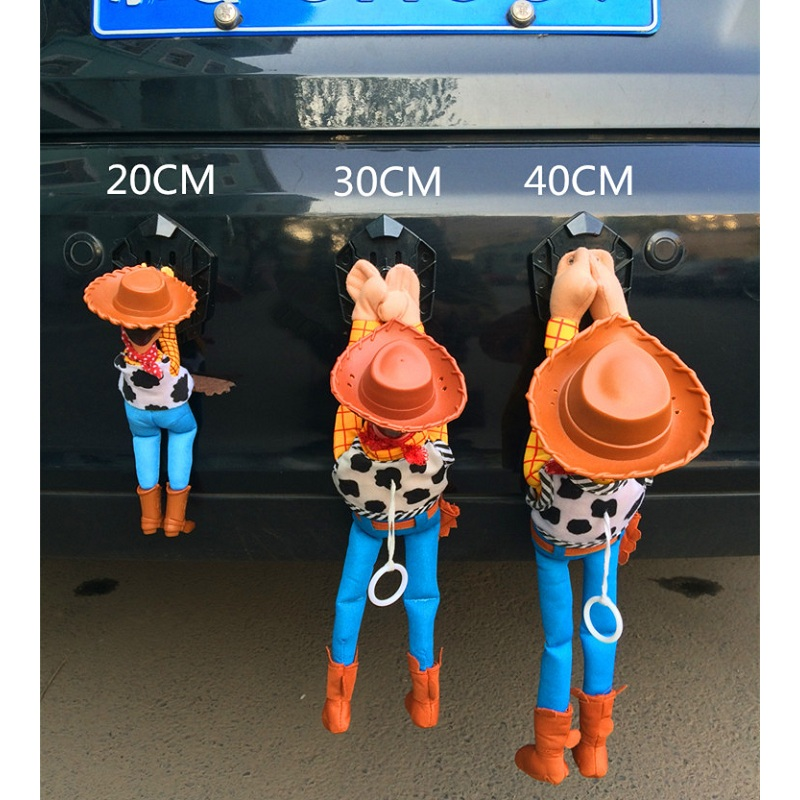 цена на Funny Lovely Toy Story Sherif Woody Car Doll Outside Hang Toy Cute For Muneca Auto Accessories 20CM 30CM 40CM Hot Sell