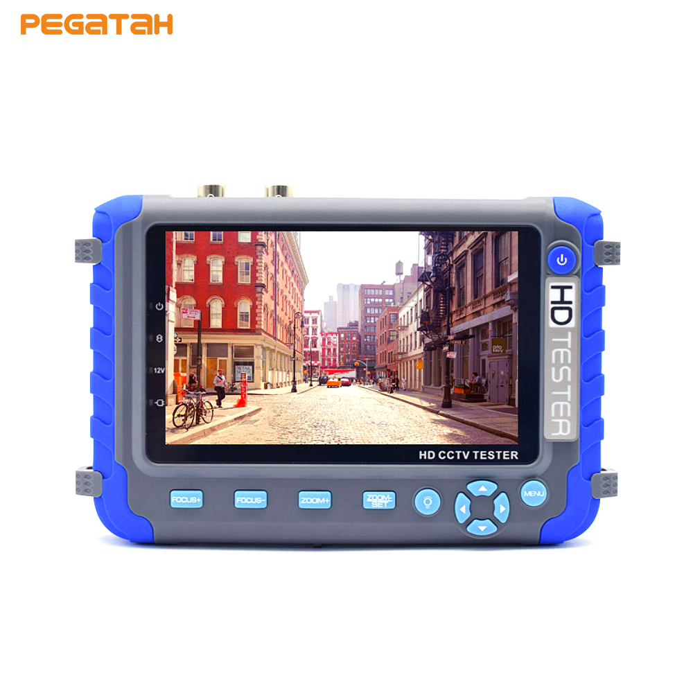 New 5MP 4MP 1080P AHD TVI CVI Analog CVBS security camera CCTV tester monitor Support VGA HDMI input Audio test PTZ control