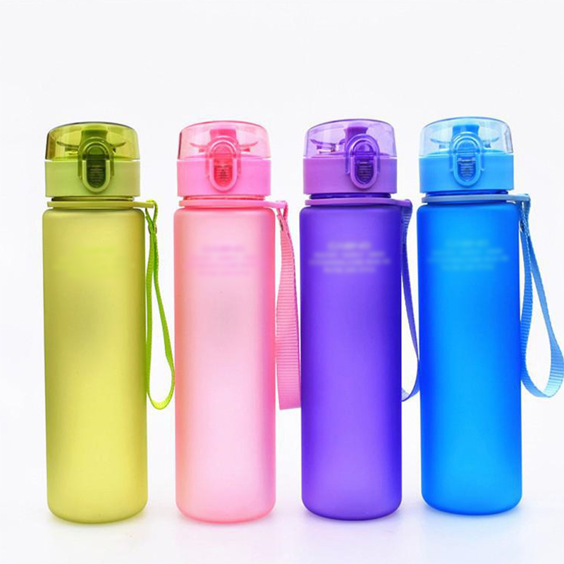 DND Standard Mouth Leak Proof 18//20oz Sports Water Bottle Insulated BPA Free Flex Leather Cap
