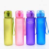 400ml sans BPA étanche sport bouteille d'eau de haute qualité Tour randonnée Portable en plein air école voyage mode boisson Couple Bott