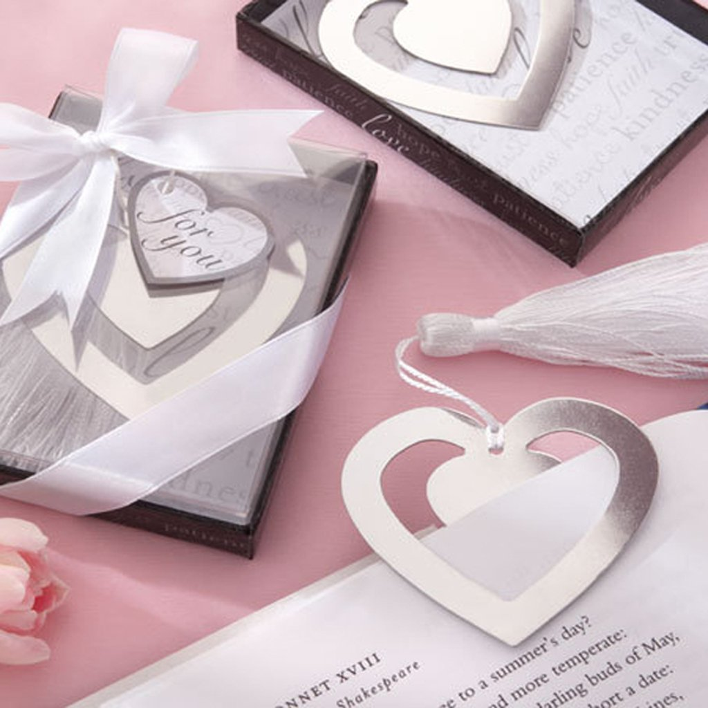 SOSW Wedding Favors Double Hearts Bookmark Party Favors Stainless ...