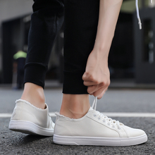 Summer new breathable canvas shoes white