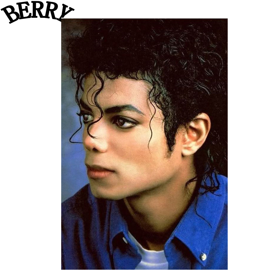 Michael Jackson diy 5D Diamond Painting Cross Stitch Full Square Drill Arts Diamond Embr ...
