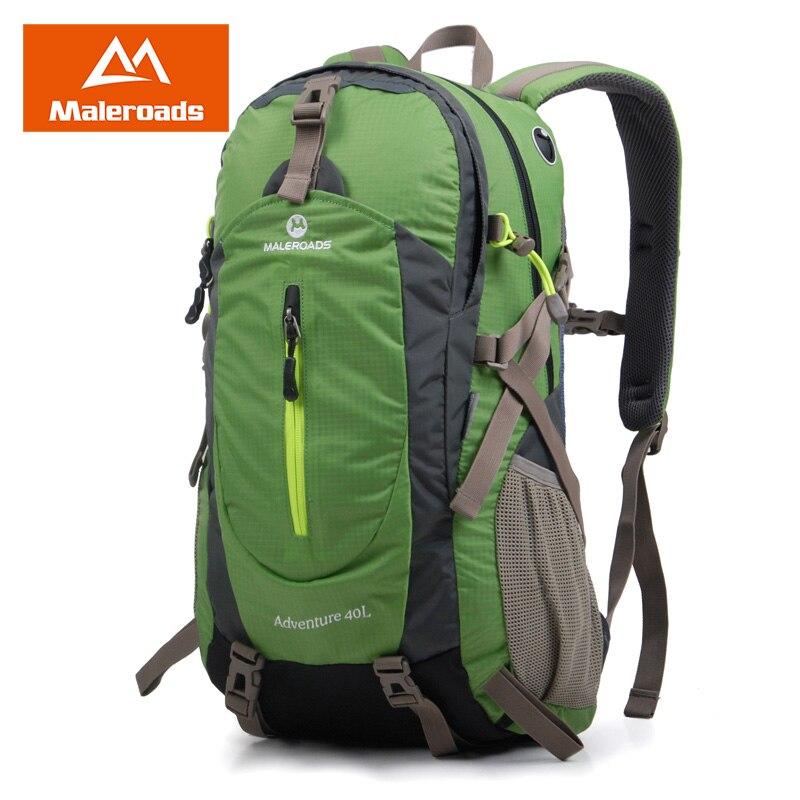 Maleroads Женщины Мужчины Рюкзак ежедневно рюкзак открытый рюкзак путешествия подъем рюкзака лагерь Поход Рюкзак 40L ноутбук Mochila