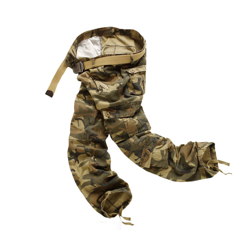 Large Plus Size Wearable Tactical Pants Military Men s Camouflage Cargo Multi-pocket Work Pants Male Overalls Casual Trousers