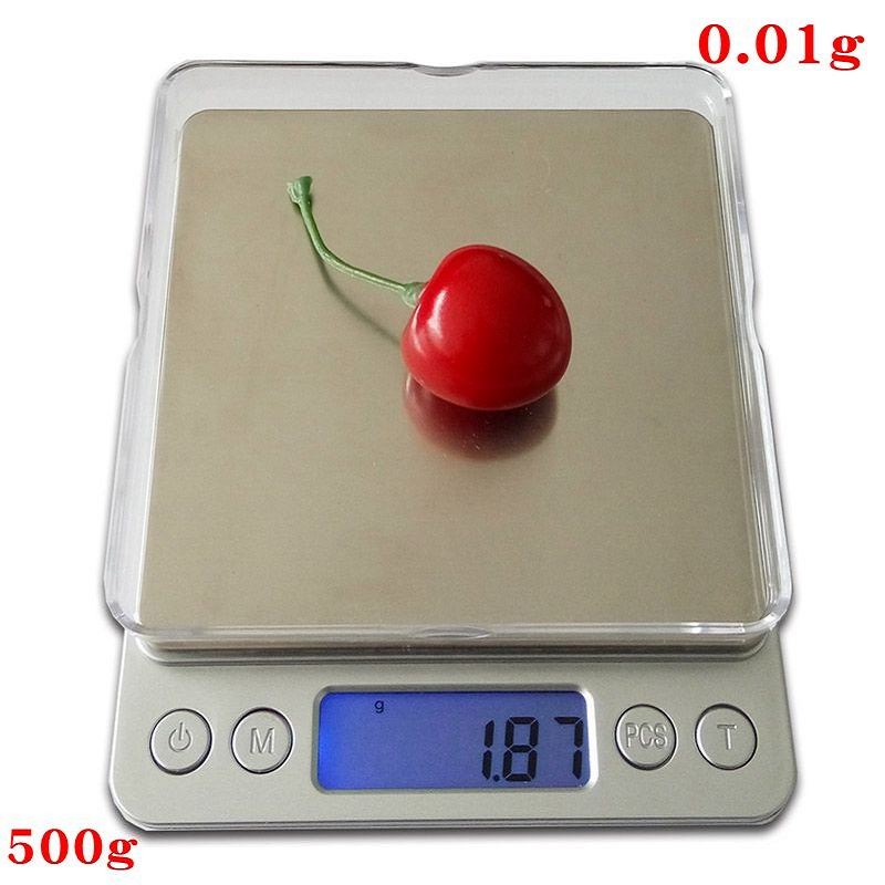 500g x 0.01g Digital Precision Pocket Gram Scale Non-magnetic Stainless Steel Platform Jewelry Electronic Balance Weight Scale 30g 0 001g precision lcd digital scales gold jewelry weighing electronic scale