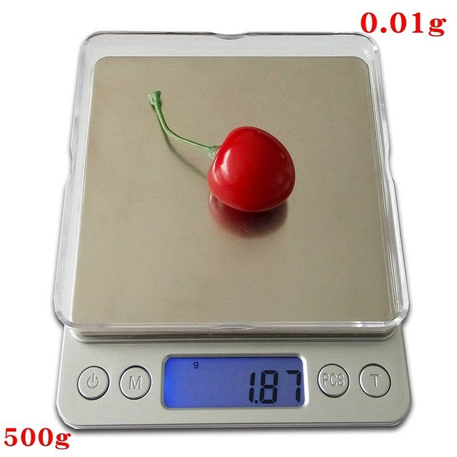 500g x 0.01g Digital Precision Pocket Gram Scale Non-magnetic Stainless Steel Platform Jewelry Electronic Balance Weight Scale
