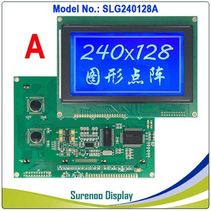 """Image 3 - 4.7"""" 240128 240*128 Graphic Matrix LCD Module Display Screen build in RA6963/UCi6963 Controller Yellow Blue with Backlight"""