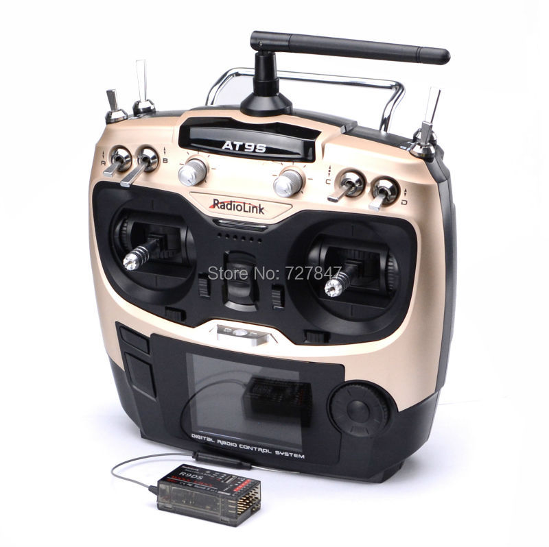 New Radiolink AT9S R9DS Radio Remote Control System DSSS & FHSS 2.4G 9CH Transmitter & Receiver for Quadcopter Helicopter