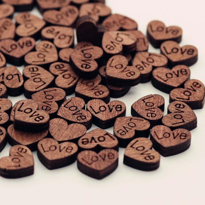 Sincere 1set/100pcs Color Random Love Shaped Retro Button Childrens Patch Diy Handmade Mosaic Wood Button For Clothes Sewing Be Shrewd In Money Matters Apparel Sewing & Fabric Arts,crafts & Sewing