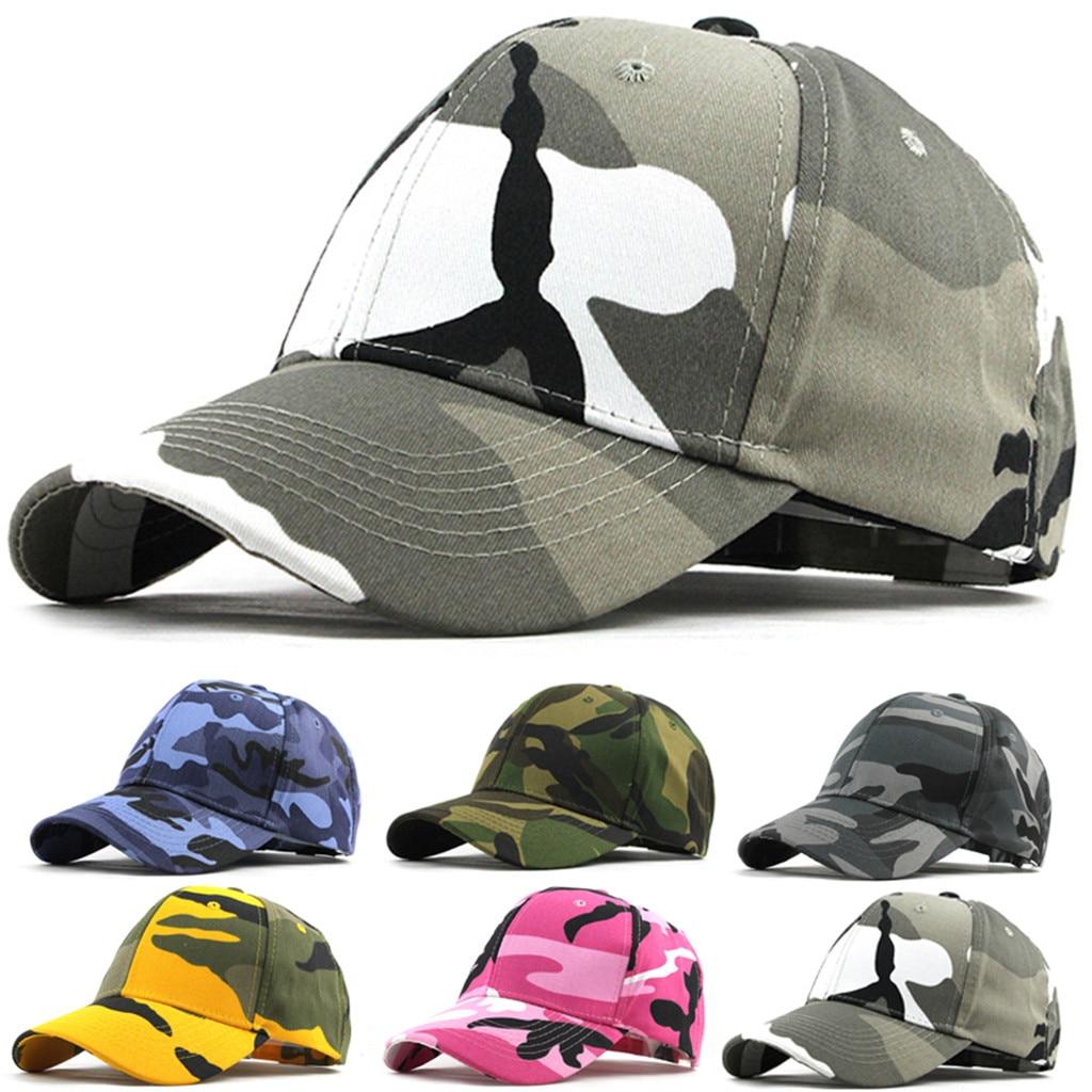 Summer Unisex Women Men Adjustable  Outdoor Camouflage  Caps Trucker Plain Baseball Visor Cap Hats Fashion Accessories