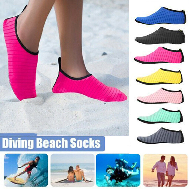 Summer Men Women Swimming Shoes Water Sports Aqua Socks Anti Slip Shoes Neoprene Socks Plus Size Thickening Non-slip Beach Shoes