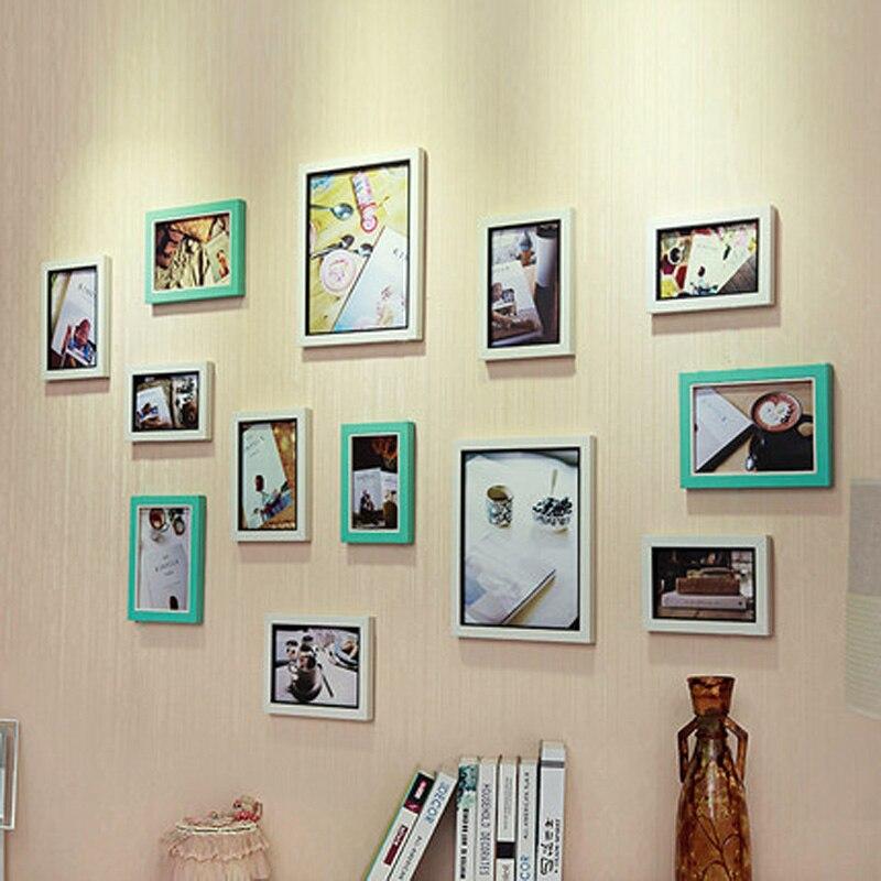 13 sztuk w stylu europejskim ściana z drewna kompozytowego ramka na - Wystrój domu - Zdjęcie 4