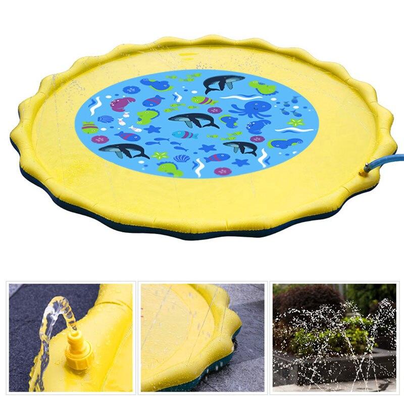 HTB1 yRuauL2gK0jSZFmq6A7iXXag Water Mat Children's Play Mat Baby Water Mat Water Play Mat Baby Play Mat Games Beach Inflatable Spray Water Cushion Toys
