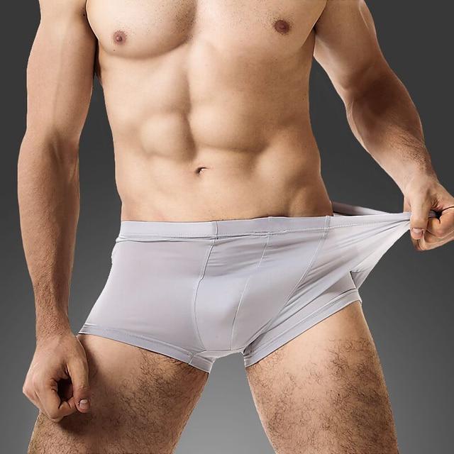 fcdfe492a57d Men Underwear Summer Ice Silk Thin Men Boxer Men's Sexy Underpants For Man  Panties Transparent Breathable cuecas 6 Colors