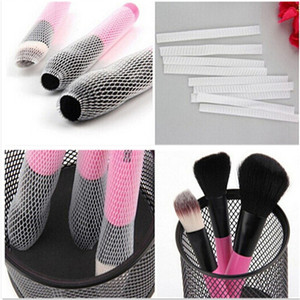 20 PCS Hot Selling White Make Up Cosmetic Brushes Guards Most Mesh Protectors Cover Sheath Net Without Brush