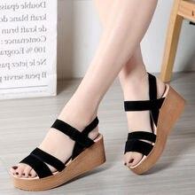 205702ac ZOQI plataforma Sandalias Mujer Zapatos 2018 verano negro Zapatos mujeres  Sandalias planas Playa Mujeres Zapatos Mujer tamaño 35.