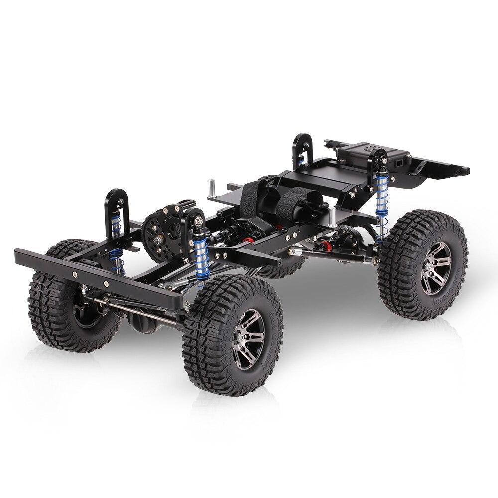 Metall cnc rahmen für 1/10 d90 rock crawler rc auto mit ...