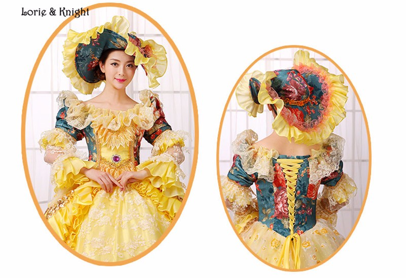 0bbf0555aaa3 Queen Marie Antoinette Inspired Rococo Dress Princess Stage Costume ...