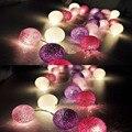 Aladin Magnífico Romántico 4.5 M 35 Purple Tone Algodón Cadena de Luz Para Navidad Fiesta de Banquetes Decoración