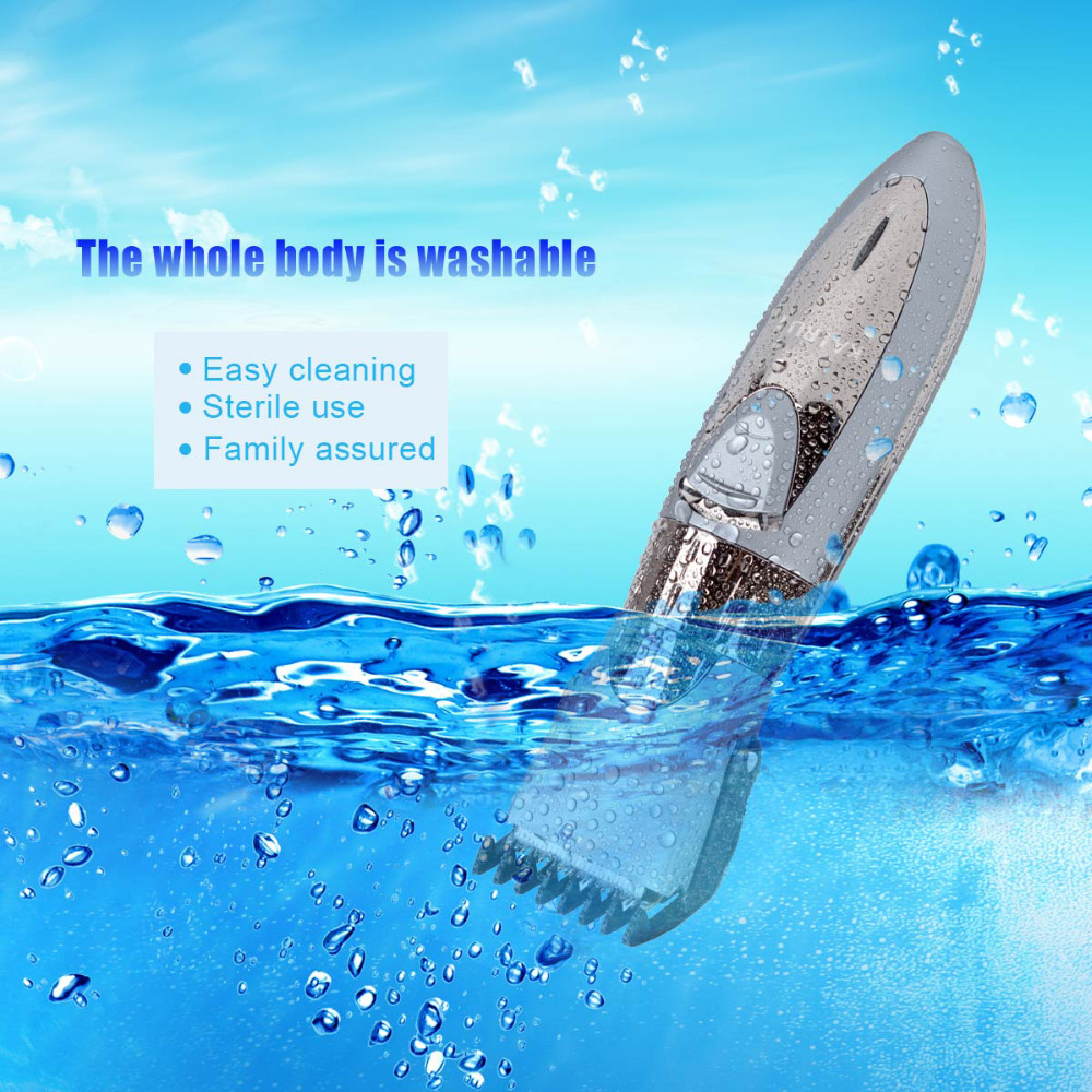 Image 2 - Cordless Hair Clipper Professional Waterproof Beard Trimmer Rechargeable Hair Razor Water Resistant Hair Cutting Machine 40Hair Clippers   -