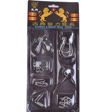 7PCS/Set Brain Teaser Metal Wire Puzzle Magic Test Game Adults Kids Toy