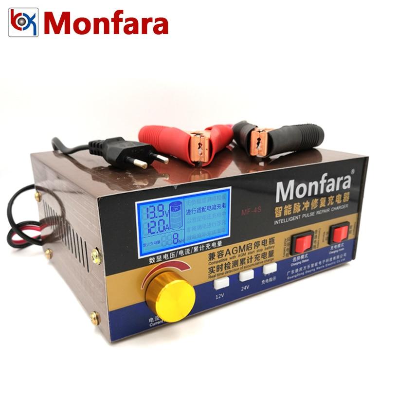 Chargeur de batterie de voiture 12 V 24 V 20A pour Auto moto AGM Jump démarreur GEL plomb-acide sans entretien CA Calcium Batteries de stockage
